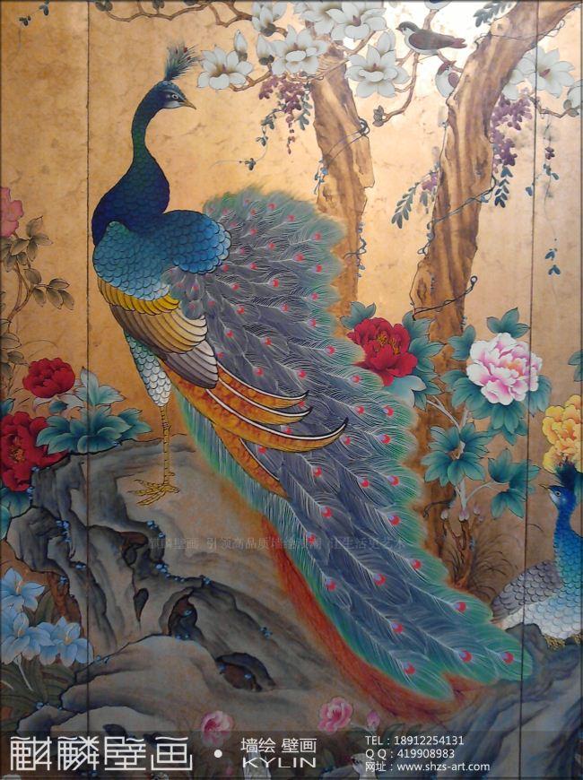 欧式小天使油画壁画